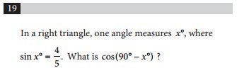SAT and ACT comparison item 12 - math